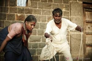 Kishor kdam & Chaya kadam - Still From Fandry Marathi movie