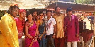 "Mahesh Manjrekar shoots for Ganpati song sung by Daler Mehndi for Rajesh Ranshinge's Marathi film ""JANIVA"""
